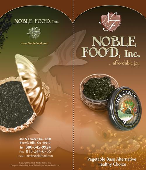 Noble Foods Inc – Brochures