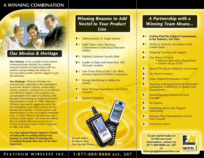 Platinum Wireless – Brochures